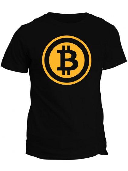 Tričko s potiskem Bitcoin Gold Logo