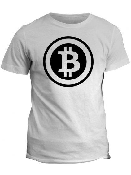Tričko s potiskem Bitcoin Black Logo