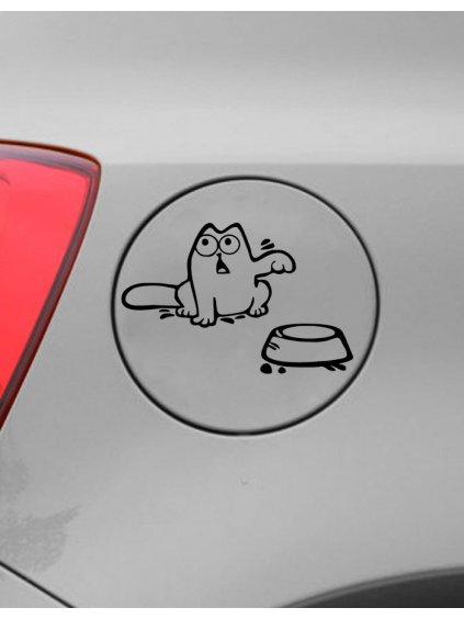 Samolepka na auto Hladová kočka