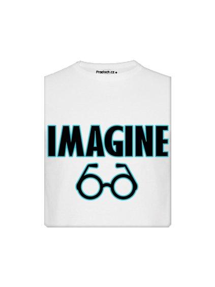 Tričko s potiskem Imagine