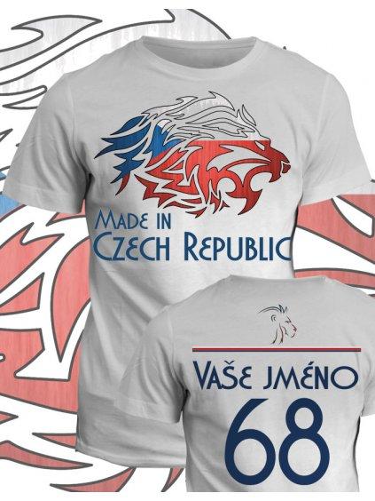 Tričko s potiskem Made in Czech Republic