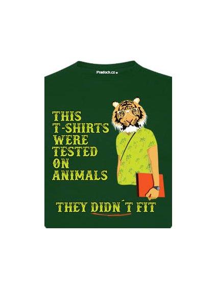 Tričko s potiskem Animal tested