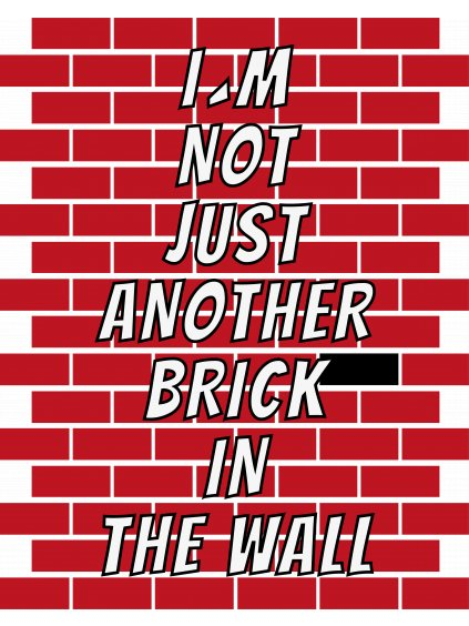 brick in wall predek tmave