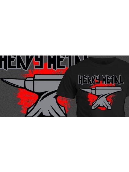 Tričko s potiskem Heavy Metal