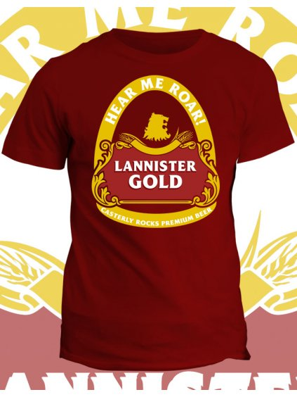 Tričko Game of Thrones - Lannister gold