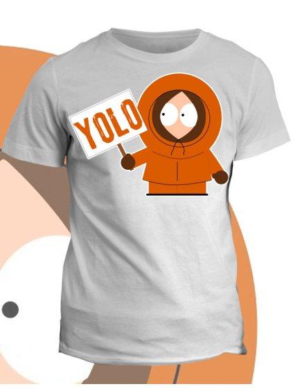 Tričko s potiskem South Park Kenny Yolo