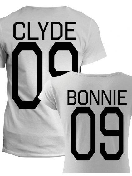 Trička pro páry Bonnie Clyde