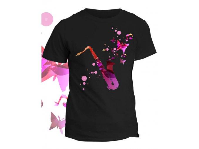 Tričko s potiskem  Saxofon