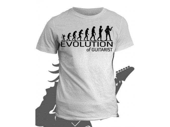 Tričko s potiskem Evolution of Guitarist