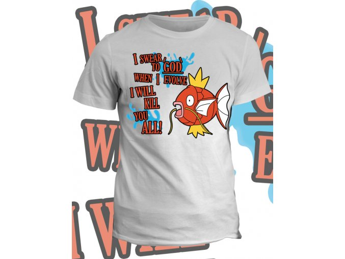 Tričko s potiskem Nebojácný Magicarp
