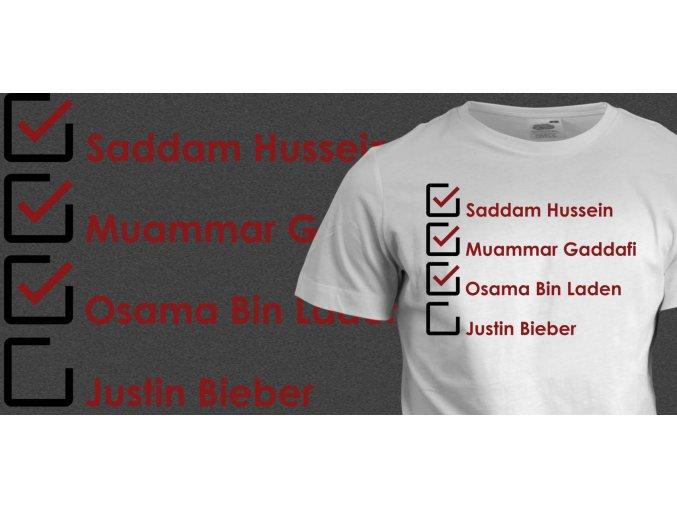 Tričko s potiskem Kill Justin Bieber