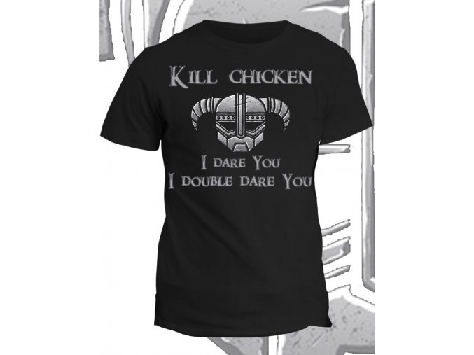 Tričko s potiskem Skyrim Chicken