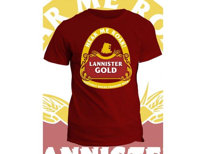 Tričko Game of Thrones - Lannister gold