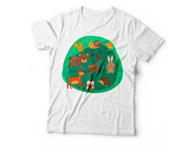 Dětské tričko Lesní zvířátka