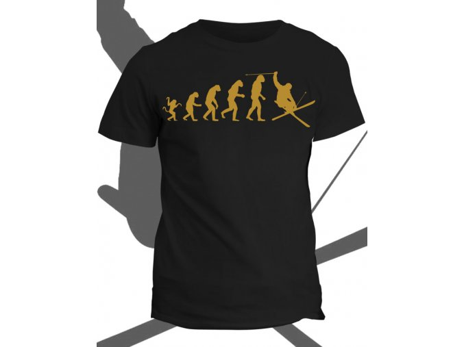 Tričko s potiskem Evolution of skier