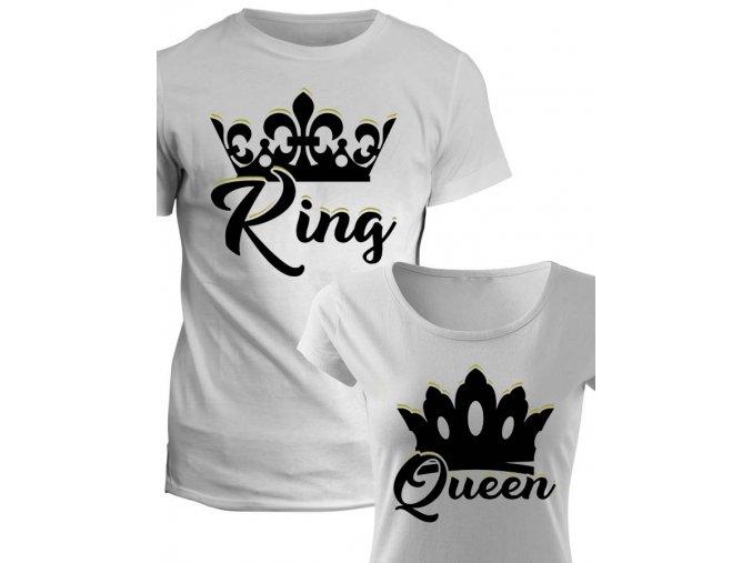 Trička pro páry King Queen