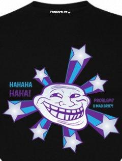 Tričko s potiskem Troll meme Star