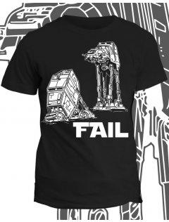 Tričko s potiskem AT AT Fail