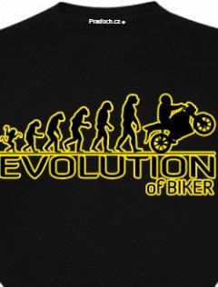 Tričko s potiskem Evolution of Biker