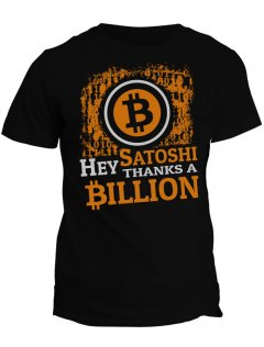 Tričko s potiskem Bitcoin Thanks Satoshi