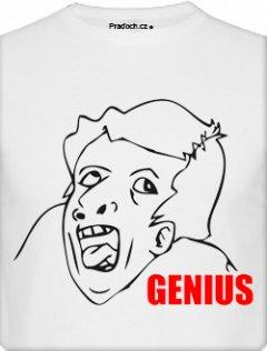 Tričko s potiskem MEME Genius
