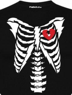 Tričko s potiskem Broken Heart