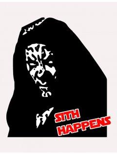 Tričko s potiskem Sith happens
