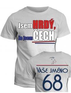 Tričko s potiskem Hrdý Čech