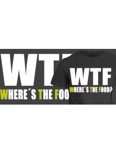 Tričko s potiskem WTF