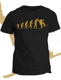 Tričko s potiskem Evolution of snowboarder