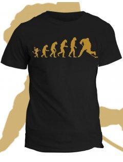 Tričko s potiskem Evolution of hockey player