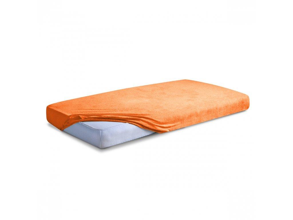 Oranžové Froté prostěradlo 140/200 cm