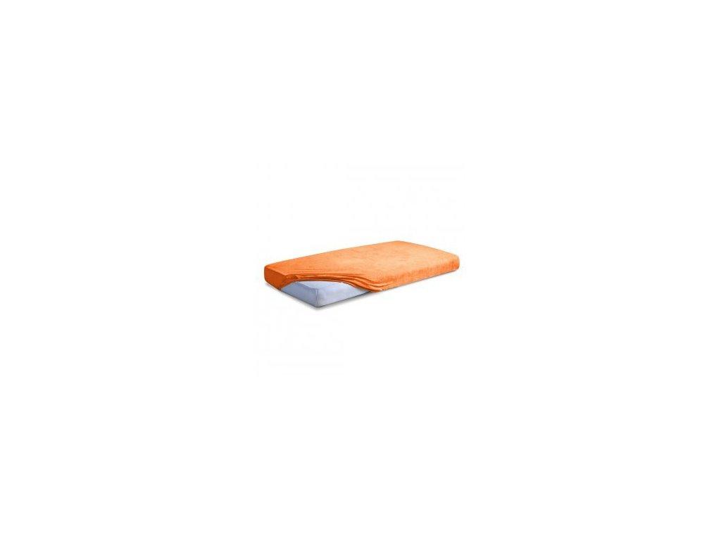 Oranžové Froté prostěradlo 160/200 cm
