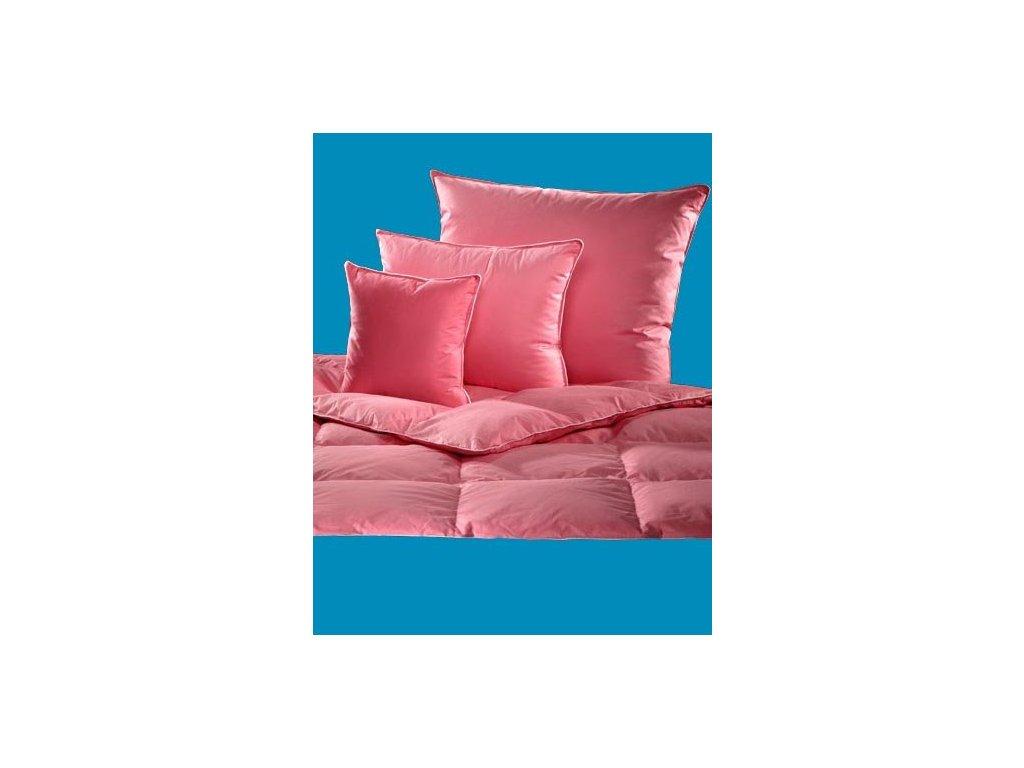 Polštář poloprachové peří 90/70 cm (1100g) růžový  30086
