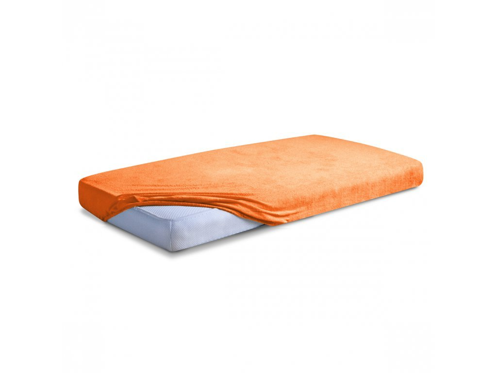 Oranžové Froté prostěradlo 180/200 cm