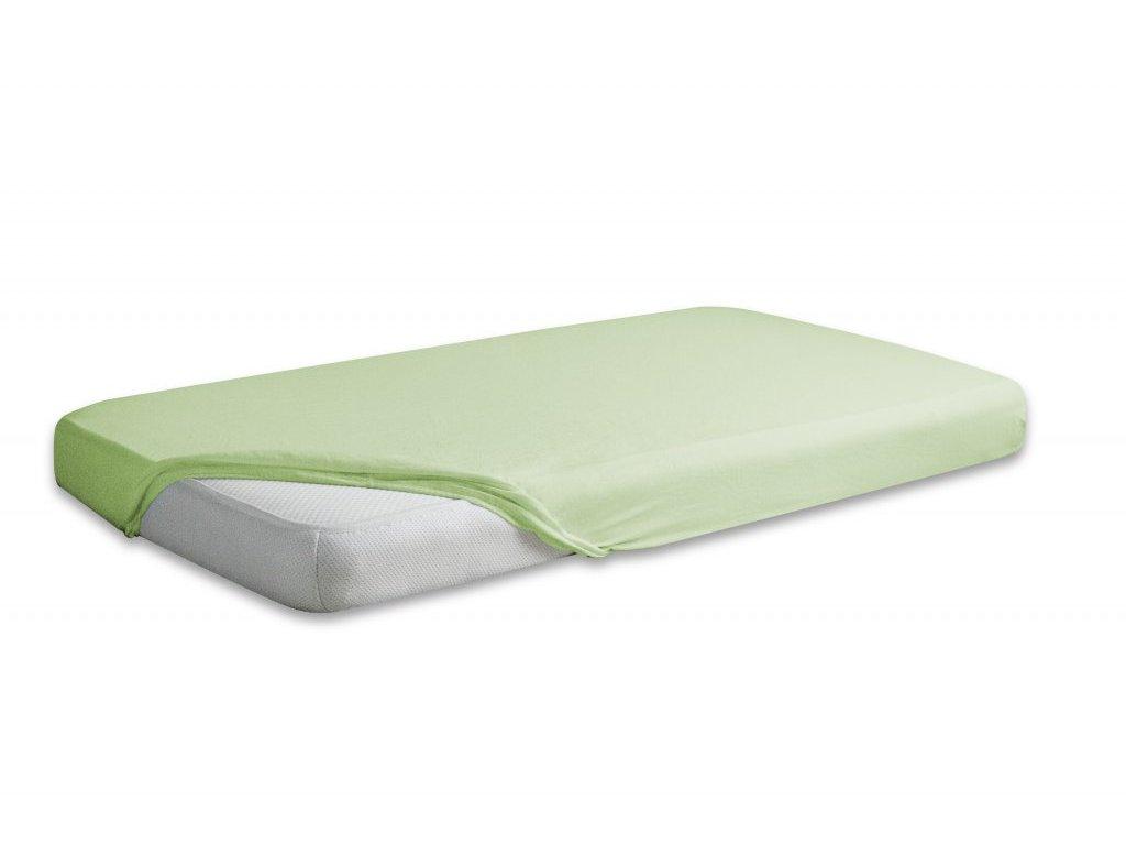 Světle zelené jersey prostěradlo 90/200 cm