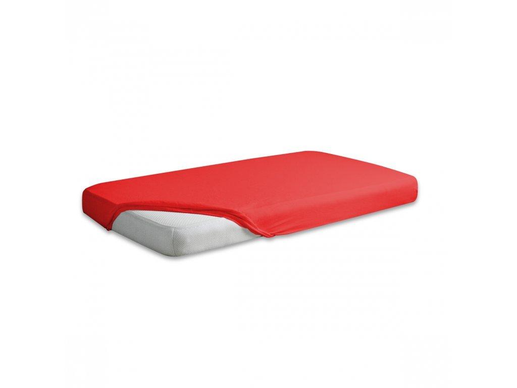 Červené jersey prostěradlo 180/200 cm