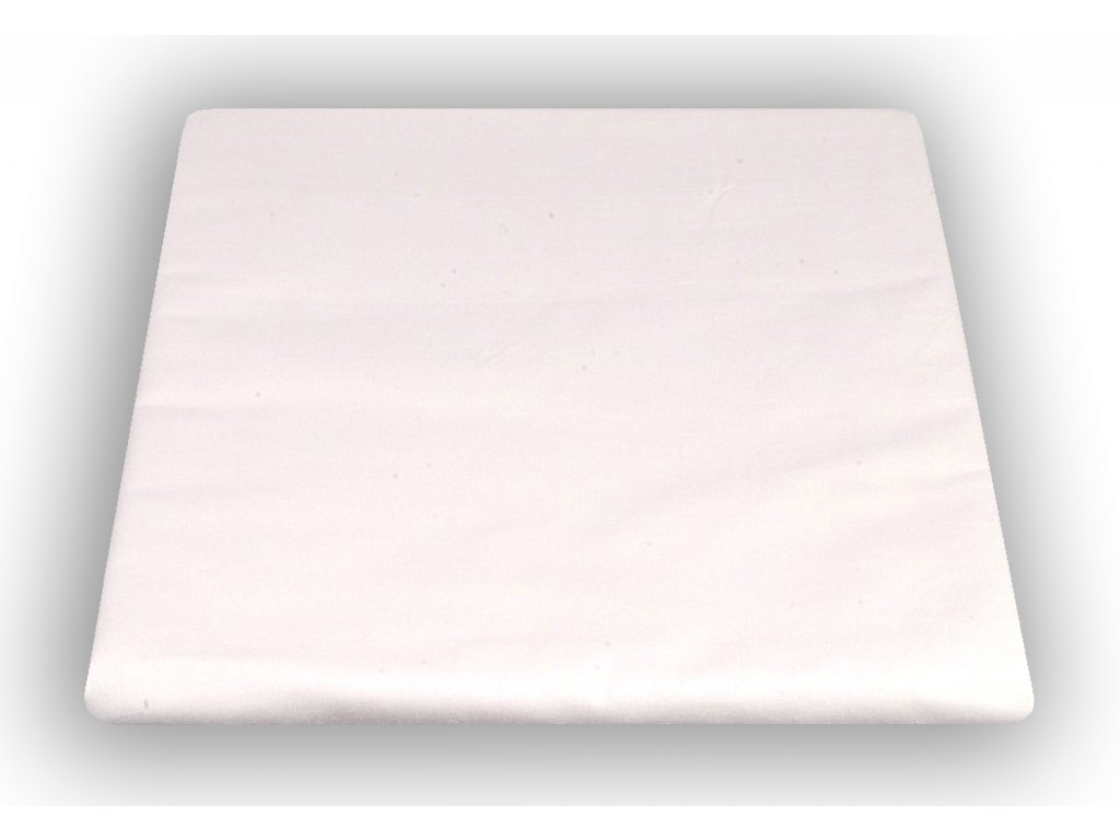 Bílé bavlněné prostěradlo 140/240 cm 150 g/m2
