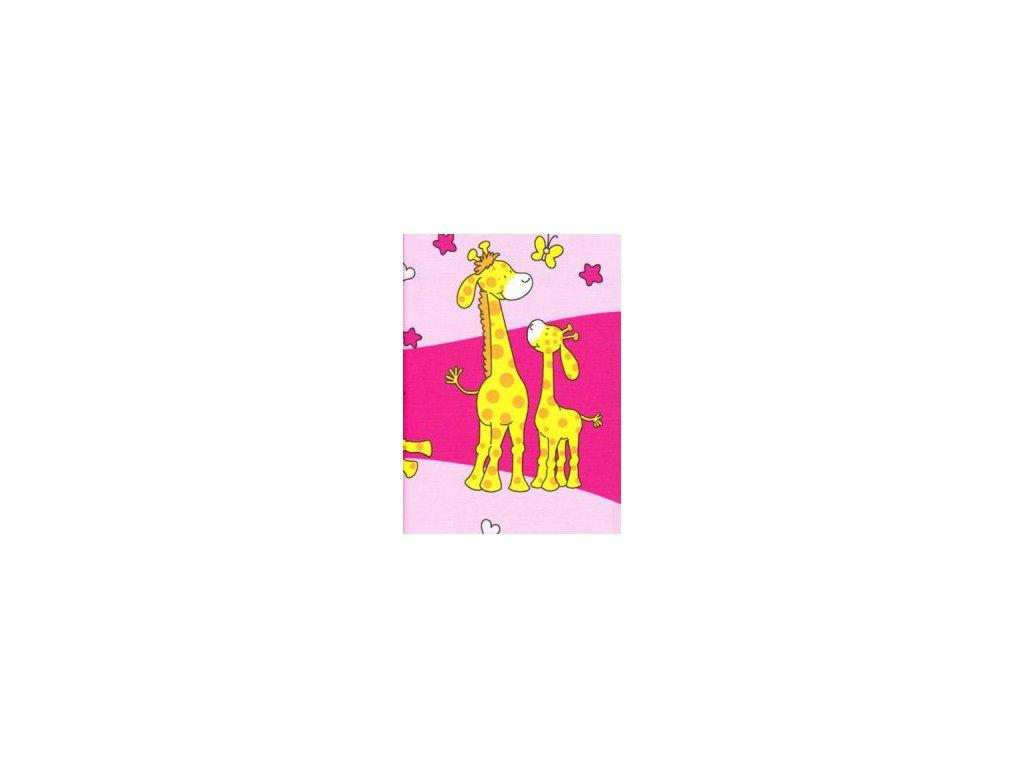 Bavlněné dětské povlečení 1+1 Žirafa