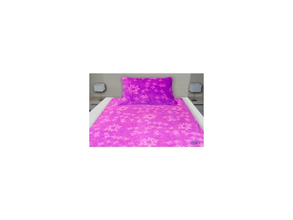 Povlečení MICROFLANEL- fialový motýl 1+1 140/200 cm, 70/90 cm-118-14