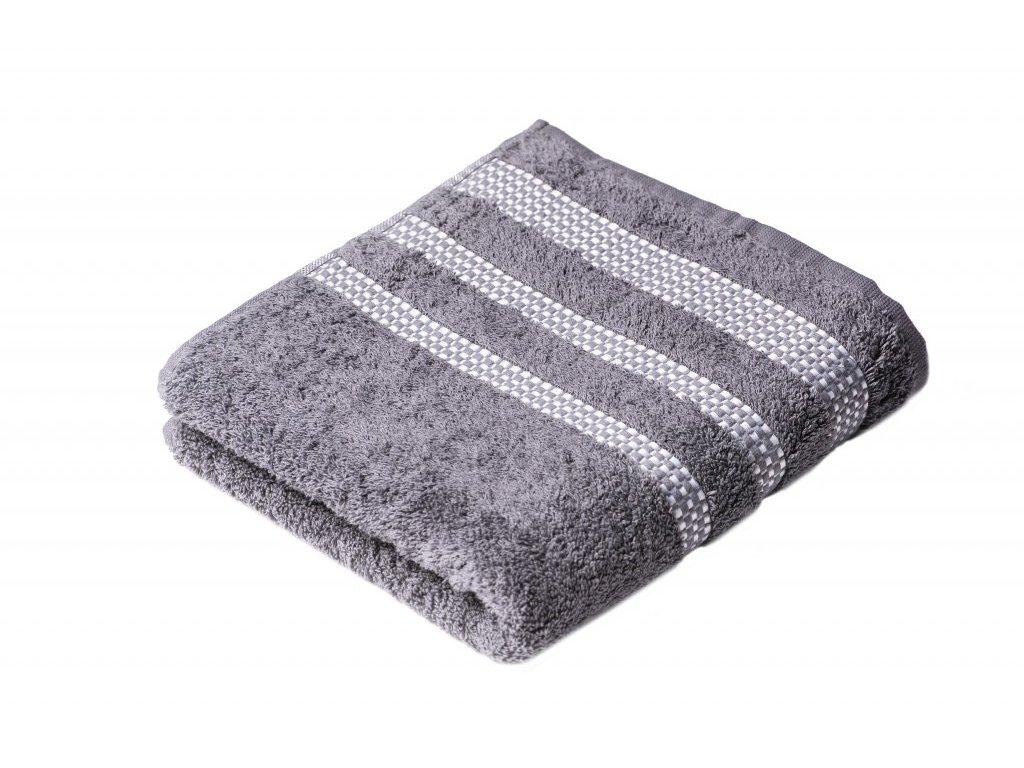 Šedý Froté ručník Roxy 50/100 cm