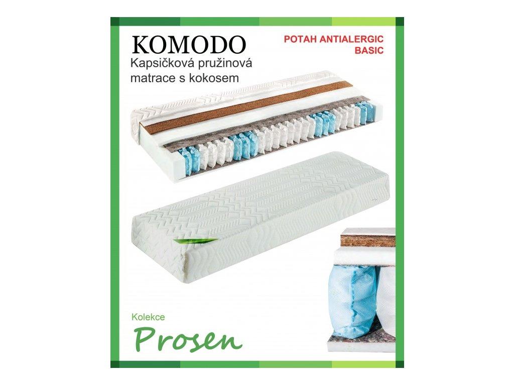 zdravotni matrace pruzinova komodo potah anti allergic basic original