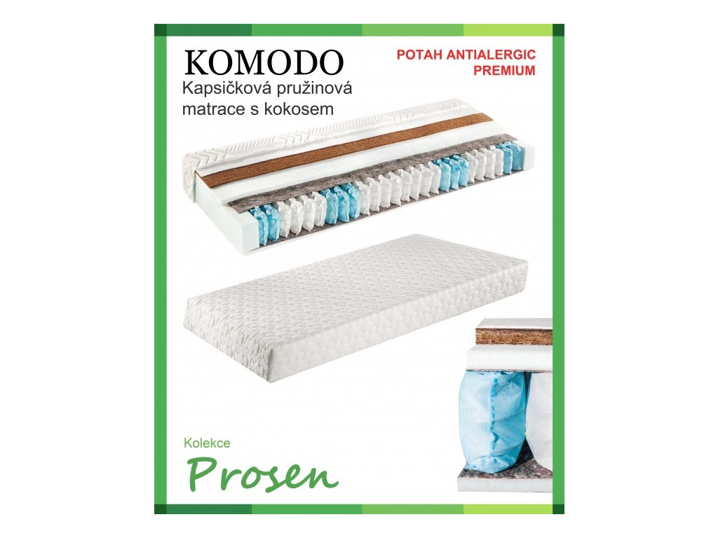 zdravotni matrace pruzinova komodo potah anti allergic premium original