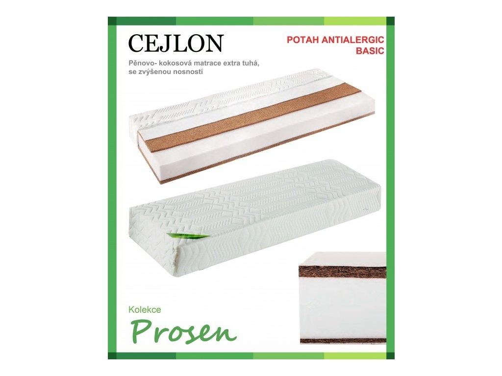 zdravotni matrace penova cejlon potah anti allergic basic original