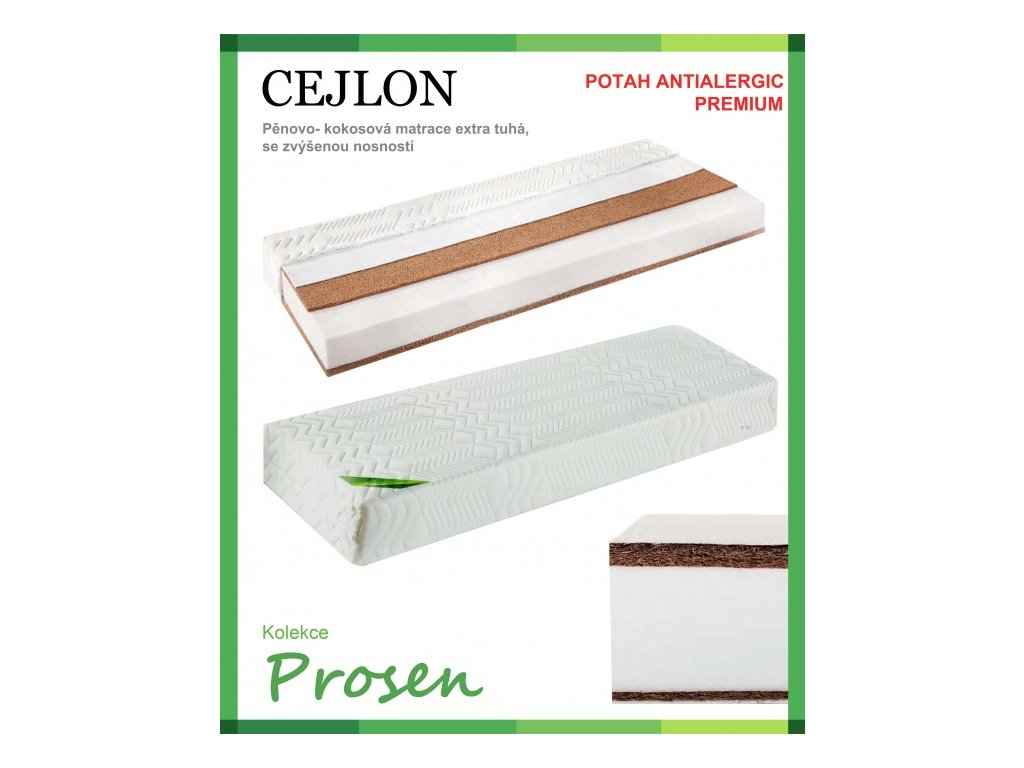 zdravotni matrace penova cejlon potah anti allergic premium original