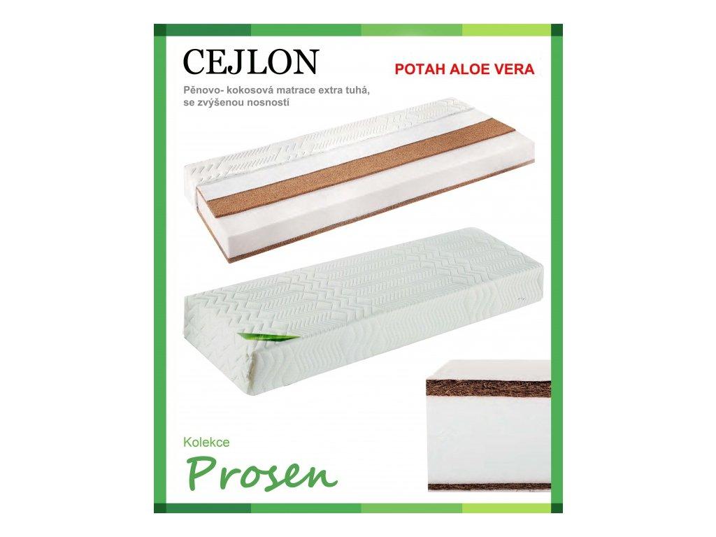 zdravotni matrace penova cejlon potah aloe vera original