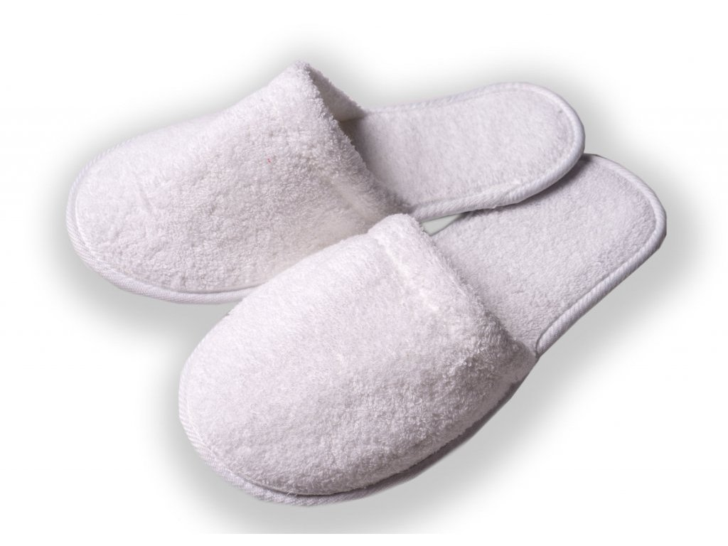 Froté pantofle plná špička  393