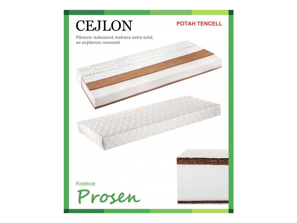 zdravotni matrace penova kokosova cejlon potah tencell original