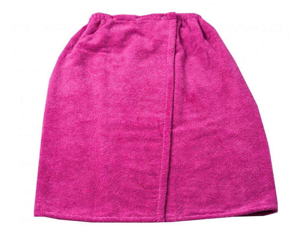 Růžový froté sauna kilt 75/130cm