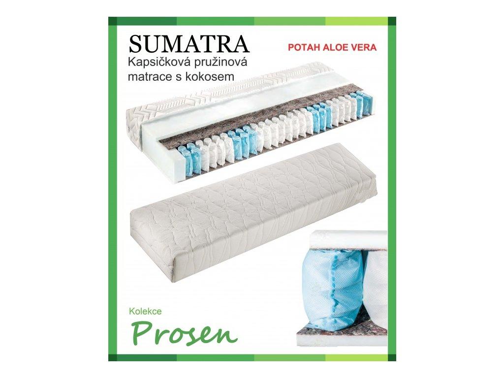 zdravotni matrace pruzinova sumatra potah aloe vera original